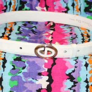 Vintage Christian Dior Leather Belt Size Small